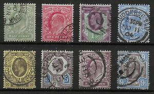 KEVII-Small-Fine-V-Fine-Used-Group-With-Values-To-9d-Bright-Colours-Ref-12125