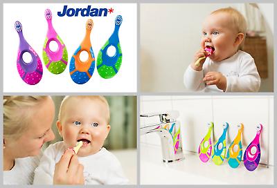 Jordan Fase 0-2 Anni-primo Baby Spazzolino Da Denti-anello Di Dentizione-bambino-forma Unica-mostra Il Titolo Originale