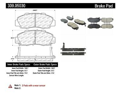 High Friction FRONT SET Stoptech Sport Performance Disc Brake Pads 309.05030