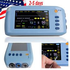 New Listingportable 55 Palm Patient Monitor Vital Signs Ecg Nibp Spo2 Sensor 5 Parameters