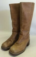Amanda Smith Austin Tan Leather Size 8M Motorcycle Boots Western Riding