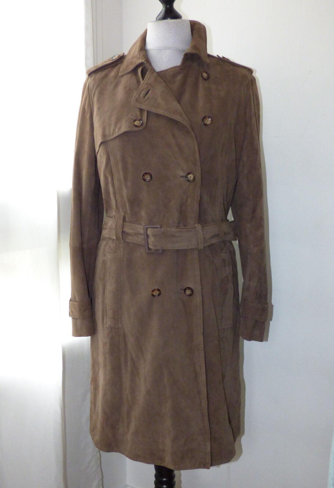 Manteau facon trench en cuir brown TARA JARMON prix initial
