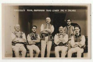 Details about Fericescu's Royal Roumanian Band Vintage RPPC Postcard Music  Autographed US136