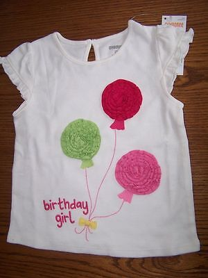 GYMBOREE BIRTHDAY BALLOONS Birthday Girl S//S TEE 18 24 2T 3T NWT