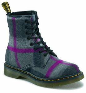 Image is loading Dr-Martens-8-Hole-1460-Castel-Grey-Pink-