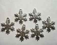 20pcs Tibetan silver Snow flower charm pendant 19x24mm