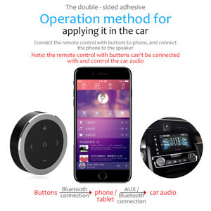 Bluetooth-Media-Audio-Music-Remote-Control-Button-Car-Steering-Wheel-Bike-Mount
