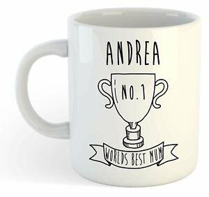 Andrea - Monde Meilleure Maman Trophy Tasse - pour Cadeau de Fête des Mères - Z8MCZxE1-09161632-902078034