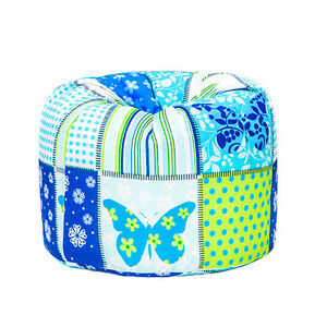 Butterflies-Patchwork-Children-039-s-Bean-Bag-Girls-Kids-Bedroom-Furniture-Beanbag