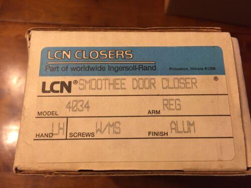 LCN DOOR CLOSER SMOOTHEE  4034 LEFT HAND REG ALUM