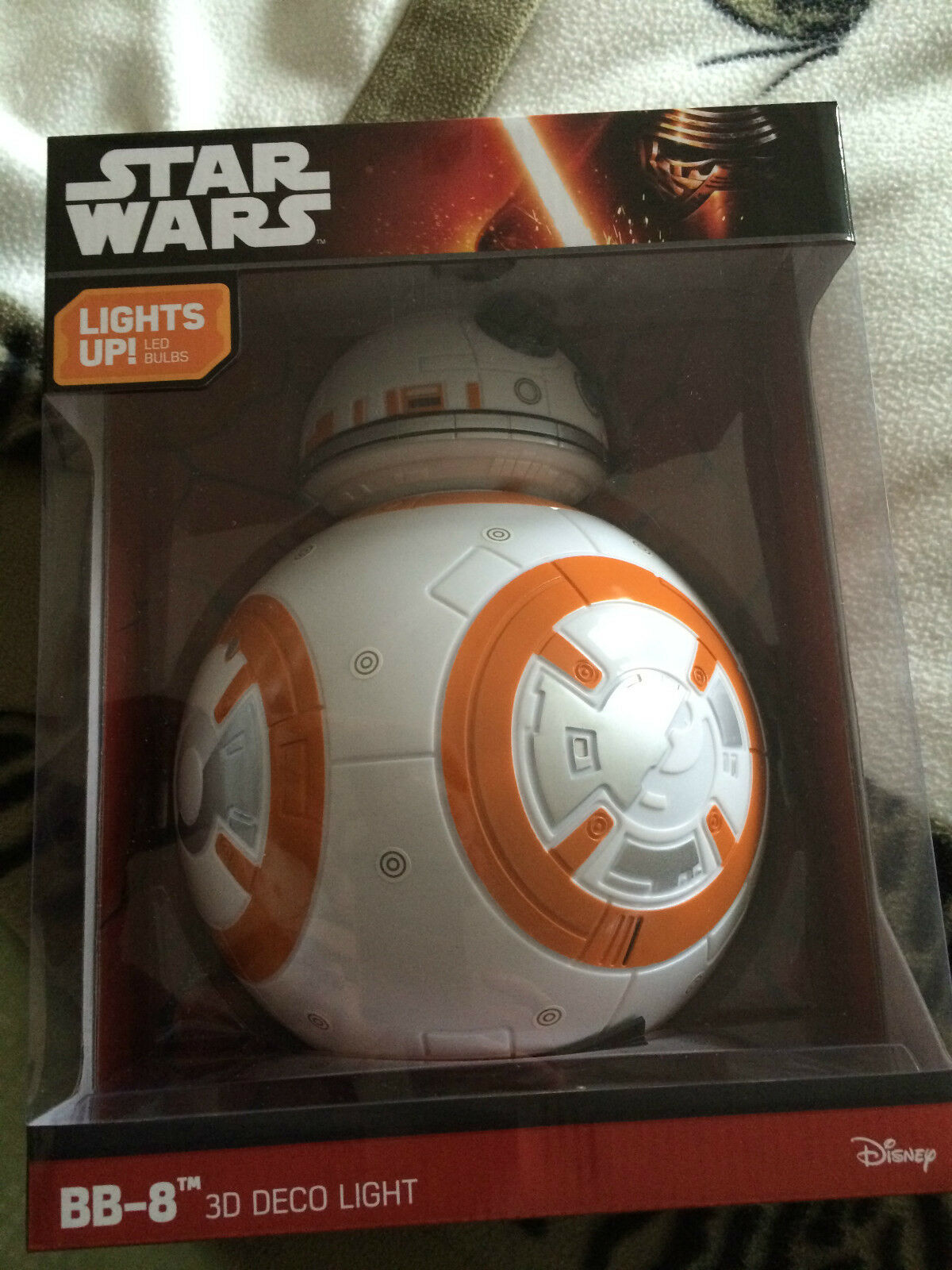 Star wars force weckt bb-8 3d - deco wand licht