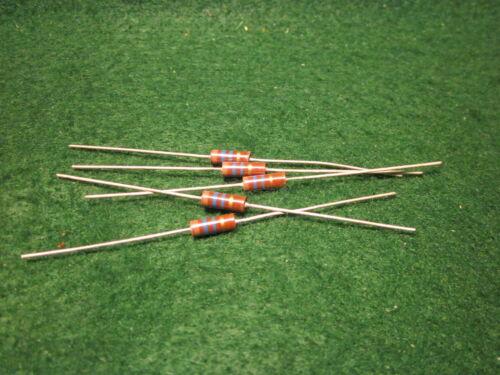 1 5 Pack Carbon Comp 16 MEG OHM 1//2 Watt 5/% Resistors NOS