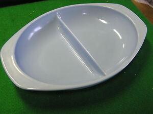 Great PYREX 1.5 Quart Delphite Blue Divided Dish CASSEROLE..................SALE