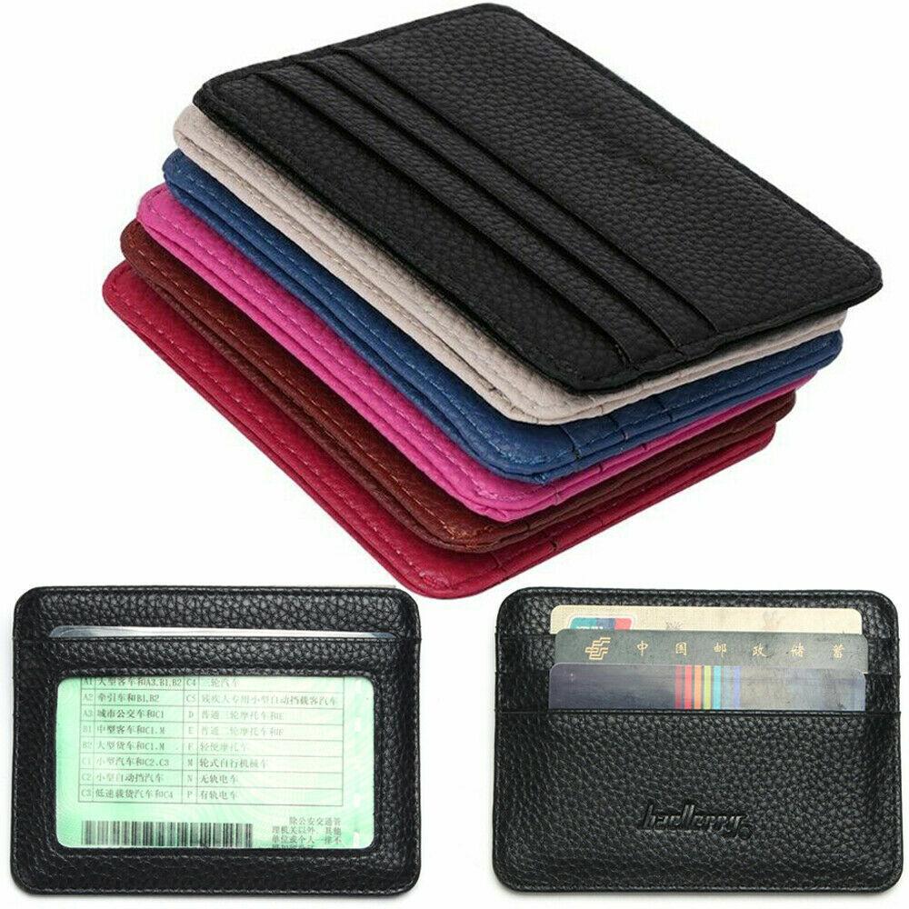 Mini Slim Wallet Credit Card Holder Women Men ID Window Case High Quality US