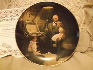 Grandpa-039-s-Treasure-Chest-Norman-Rockwell-Light-Campaign-Knowles-Plate-2