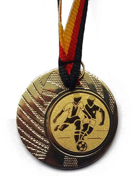 Fußball Pokal Kids 120 x Medaillen mit Deutschland-Bändern Turnier Pokale Ball