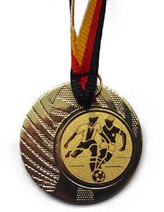 Deutschland-Bändern Turnier Logo Fussball Fußball Pokal Kinder Medaillen 10 x m Pokale & Preise
