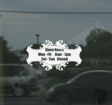 Business Custom Window Door Glass Store Hours Vinyl Decal Sign Sticker Style 4