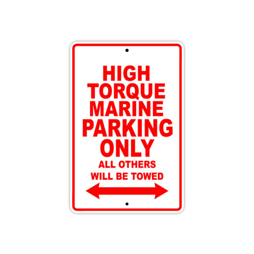 High Torque Marine Parking Only Boat Ship yacth Marina Lake Dock Aluminum Sign