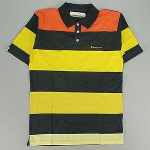 FENCHURCH-Pelton-Block-Stripe-Polo-Shirt-SHADOW-GRIGIO-TAGLIA-S-M-L