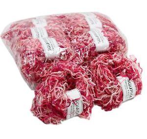LOT-of-10-Crystal-Palace-Yarns-Squiggle-9298-034-Code-Pink-034-Pig-Tail-Eyelash