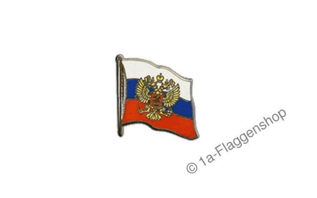 Russland mit Wappen Flaggen Pin Fahnen Pins Fahnenpin Flaggenpin Anstecker
