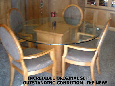 Very Nice Outstanding Drexel Heritage Dining Room Set Dr Table And 4 Arm Chairs Ebay