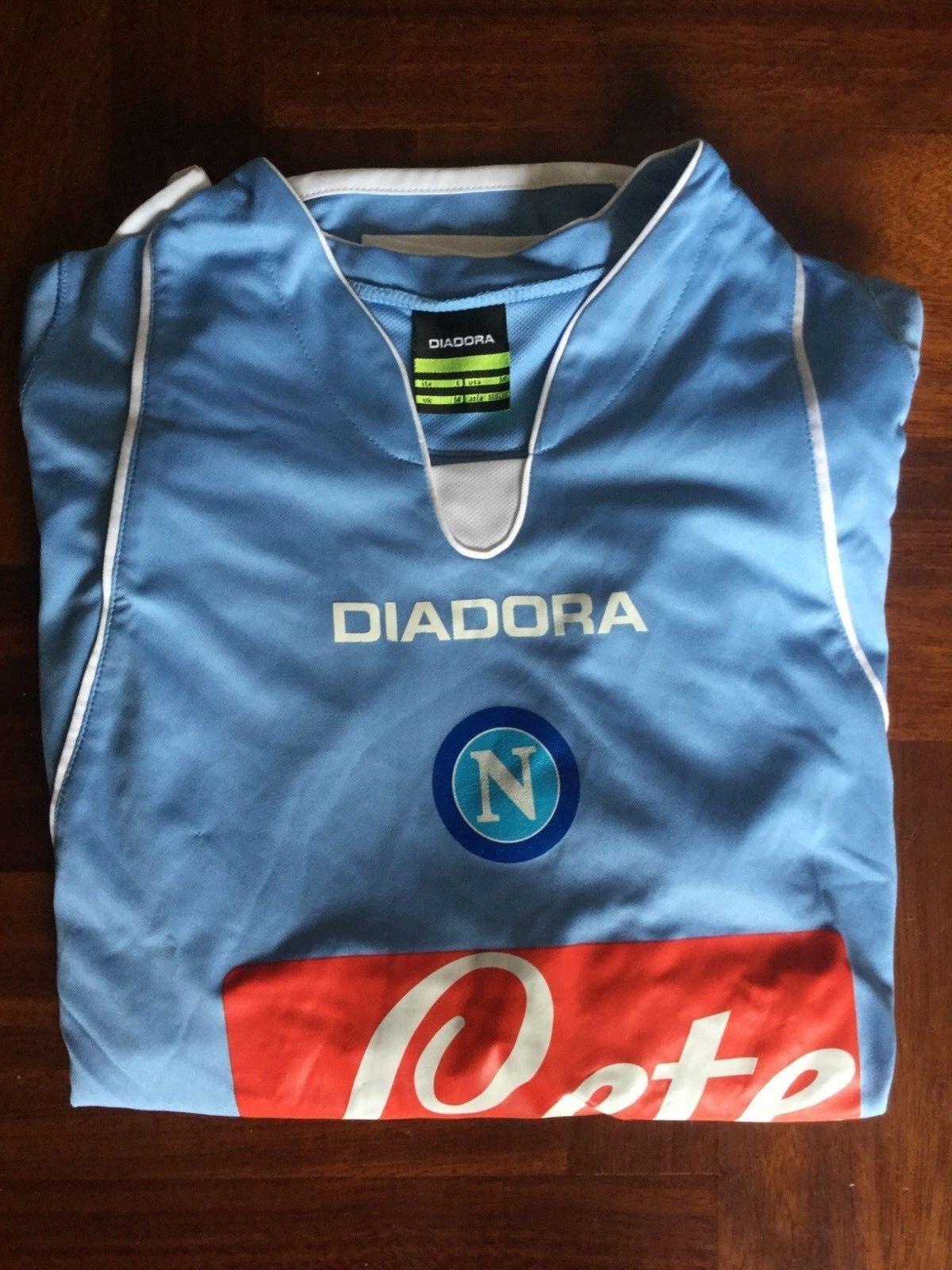 Maglia calcio diadora napoli lete pezzella football shirt jersey Talla L