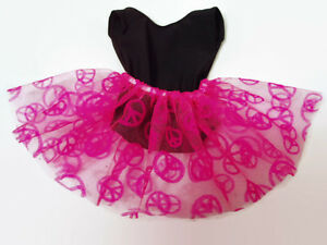 Leotard-with-Peace-Sign-Tutu-fits-American-Girl-dolls-18-inch-Doll-Clothes-Dance
