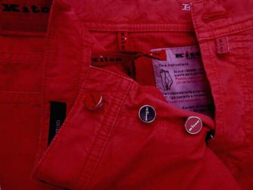 31//32 Washed red classic jean style Kiton Jeans spring cotton