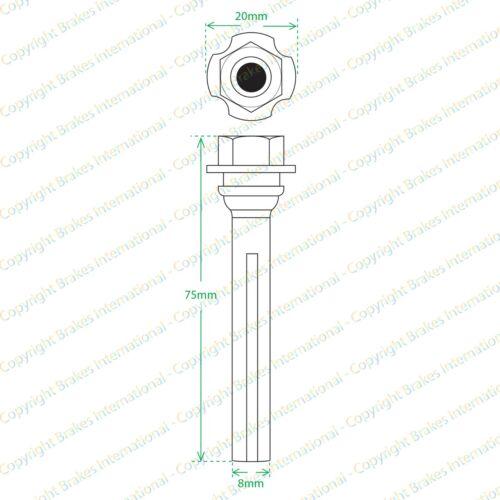 2x Frein Arrière Caliper Slider Pin Kit Guide Boulons FITS VW Touran 03-BCF1346DBX2