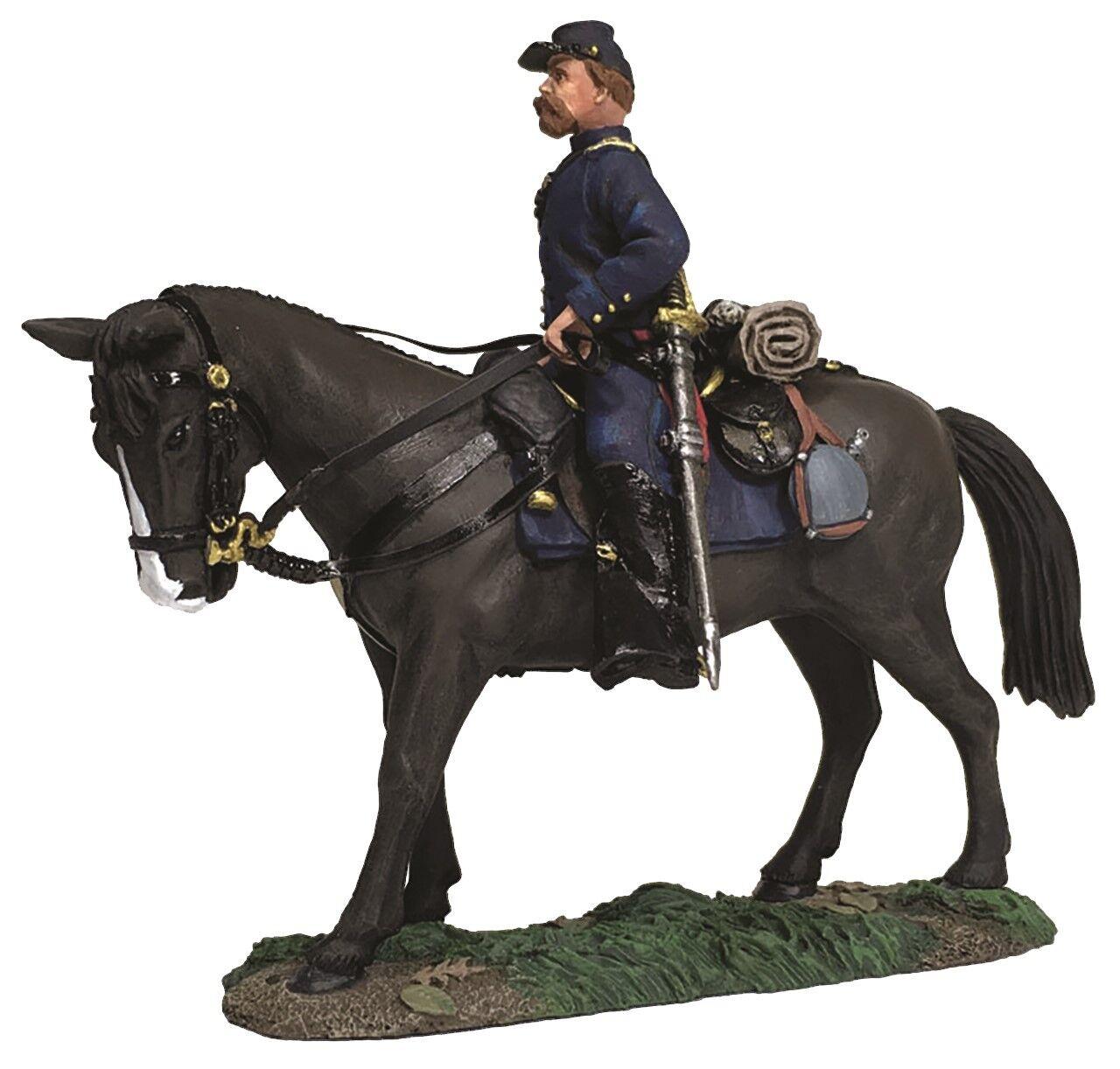 Britains Bürgerkrieg Union 31276 Federal Infanterie Offizier Berittener MIB