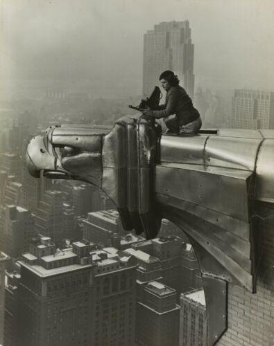 "York 8/"" x 10/"" Photo Margaret Bourke-White ATOP The Chrysler Building"