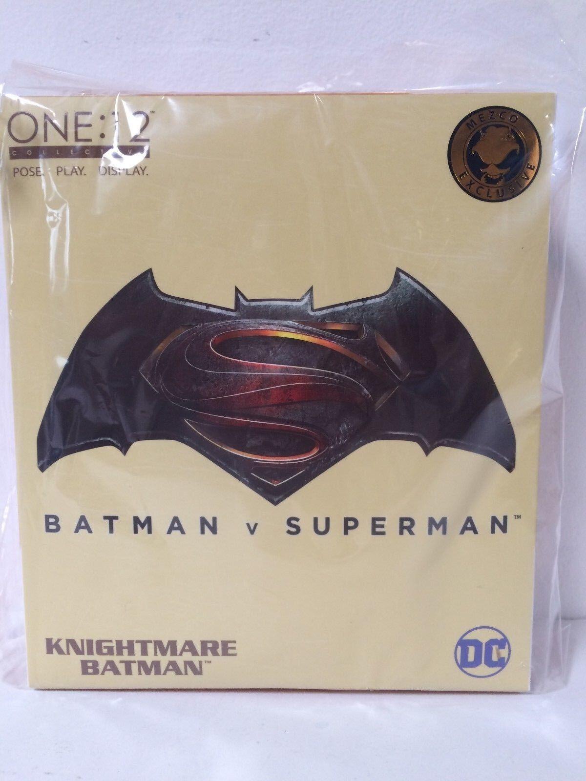 Menta en caja sellada Mezco One 12 colectivo exclusivo BVS Knightmare Batman 6  Nuevo