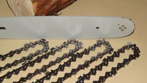 4 Sägeketten 1 Führungsschiene Schwert Dolmar PS340-401 PS39 40cm// 1,3// 56TG