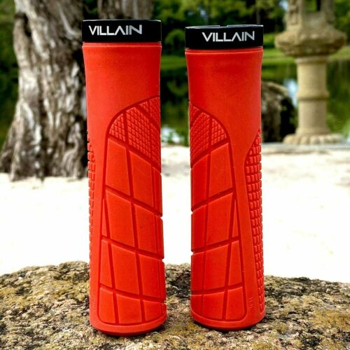 Lock-On Bike Grip VILLAIN Arrest 1st Offense Bicycle Handlebar Grips Ergonomic