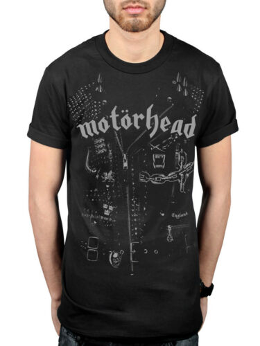Official Motorhead Leather Jacket T-Shirt Clean Your Rock Kiss Of Death Inferno