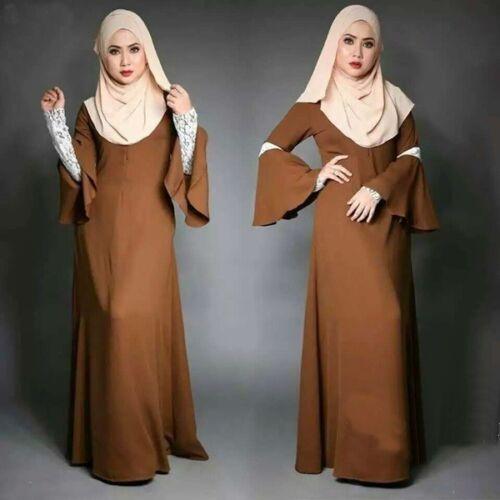 Women Speaker Sleeves Dress Muslim Kaftan Arab Islamic Cocktail Maxi Abaya