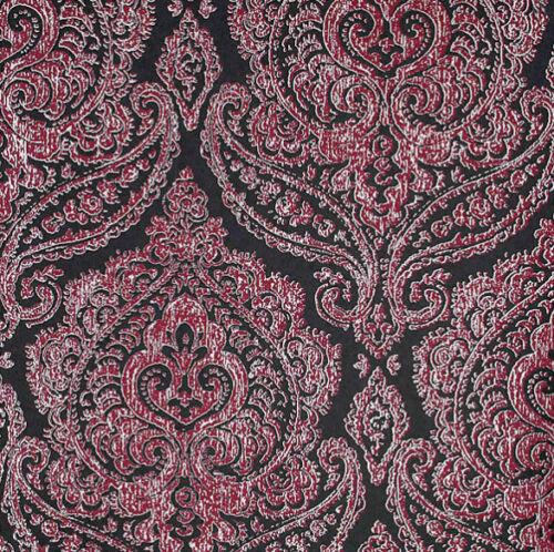 Black Pink Metallic Silver Damask Wallpaper Kenneth James Luxury Classic