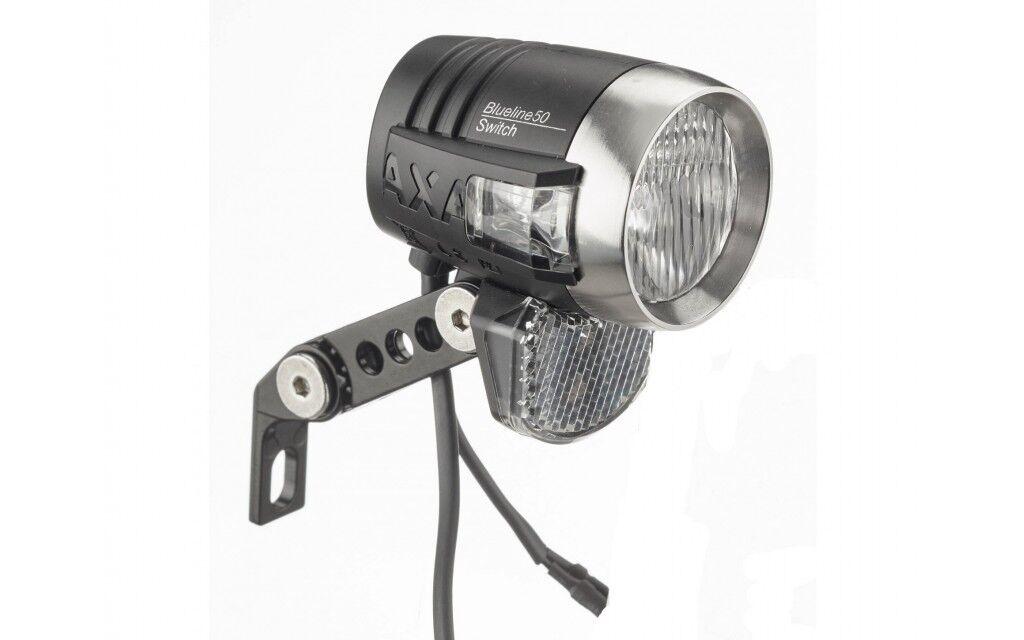 Faretto Dinamo Illuminazione Bici Axa bluline 50 con Interruttore