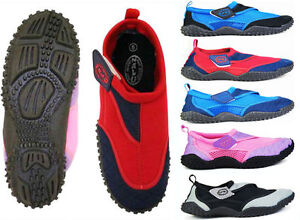 Doux Nalu Velcro Aqua Surf/plage/combinaison Chaussures ~ Kids 10 Pour Adultes 12-afficher Le Titre D'origine