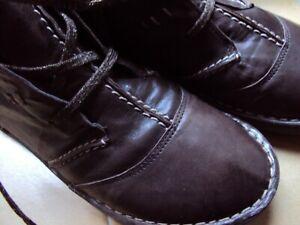 BIANCO chaussures t 38 EN CUIR MARRON PLATES CONFORT LACETS