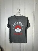 Pokémon Trainer Tee Mens Medium Gray Short Sleeve Graphic With Tags