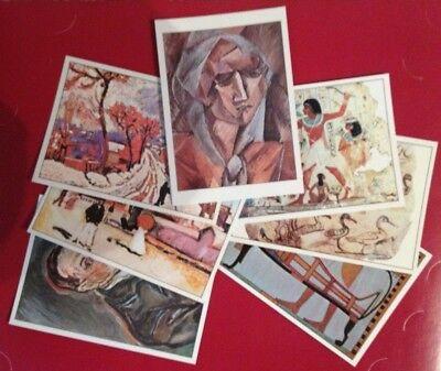 10 Karten Mit Abbildungen Berühmter, Bekannter Gemälde Aus Versch. Epochen