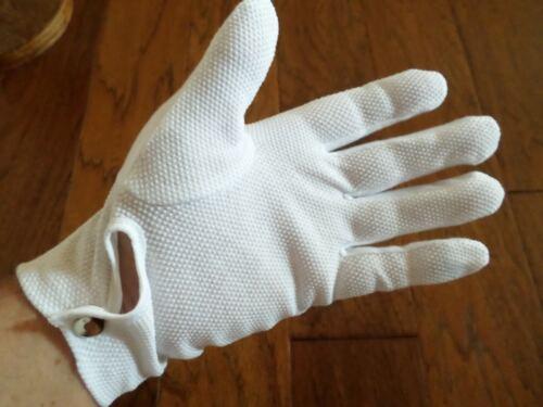 WHITE MILITARY GRIPPER DOT PARADE FORMAL DRESS TUXEDO UNIFORM WAITER BAND GLOVES