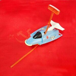 Vintage-Children-039-s-Toy-Space-Car-Ussr-Plastic-Sports-Soviet
