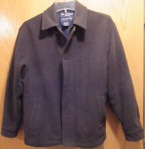 Abercrombie-amp-Fitch-Mens-Imported-Wool-Blend-Jacket-Coat-Lined-Size-Medium-M-EUC