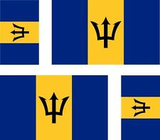 4 x Aufkleber Auto Sticker tuning motorrad Autoaufkleber Fahne Flagge Barbados