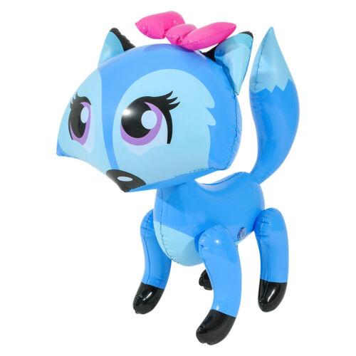 "24/"" Blue  Bowed Fox Inflatable Lady Fox  Inflate Blow Up Toy Party Decoration"