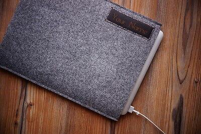 "Apple MacBook Pro RETINA 13"" Filz Hülle Tasche Case - mit ihrem LEDER-NAME"